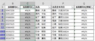 エクセルによる名寄せ手順 会員番号Bの追加4/4